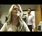Boss caught her masturbating in the office