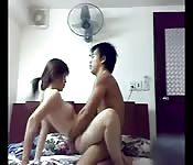 Chinese couple passionate homemade sextape