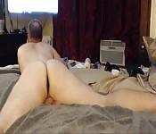 Man puts his ass on display
