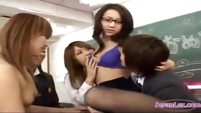 Asian Lesbians Gangbang
