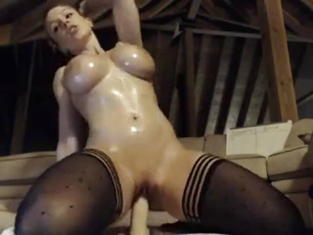 Big Tits Dildo Shower Solo
